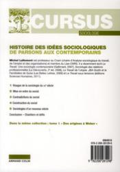 Histoire des idées sociologiques t.2 ; de Parsons aux contemporains (4e édition) - 4ème de couverture - Format classique
