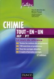 Chimie ; MP, PT ; tout-en-un (2e édition) - Couverture - Format classique