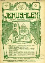 JERUSALEM, 23e ANNEE, N° 146, NOV.-DEC. 1928, REVUE MENSUELLE ILLUSTREE - Couverture - Format classique