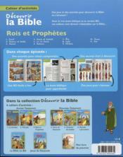 Cahiers d'activités ; découvrir la Bible en BD ; Ancien Testament ; rois et prophètes t.3 - 4ème de couverture - Format classique