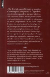 Oeuvres pré-posthumes - 4ème de couverture - Format classique