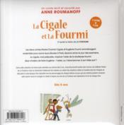 Marie-Chantal la cigale et Eugénie la fourmi ; d'après la fable de La Fontaine - 4ème de couverture - Format classique