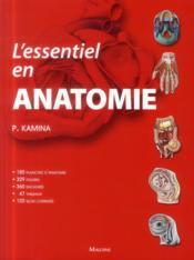 L'essentiel en anatomie - Couverture - Format classique