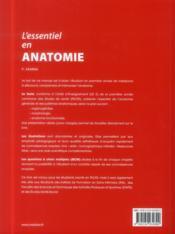 L'essentiel en anatomie - 4ème de couverture - Format classique