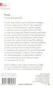 Phocas ; traité de la guérilla - 4ème de couverture - Format classique