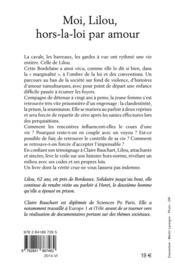 Moi Lilou ; hors-la-loi par amour - 4ème de couverture - Format classique
