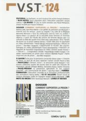 Revue Vst N.124 ; Comment Supporter La Prison ? - 4ème de couverture - Format classique