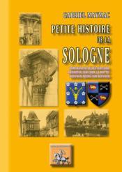 Petite histoire de la Sologne ; Romorantin, Selles-s-Cher, Mennetou-s-Cher, la Motte-Beuvron, Neung-s-Beuvron - Couverture - Format classique