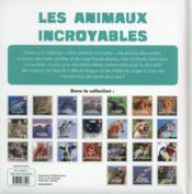 Les animaux incroyables - 4ème de couverture - Format classique
