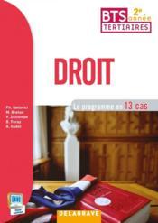 Droit ; 2e année BTS (2015) ; pochette élève - Couverture - Format classique
