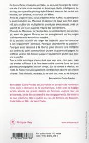 Tina Modotti - 4ème de couverture - Format classique