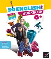 SO ENGLISH! ; worbook ; 6ème (édition 2015) - Couverture - Format classique