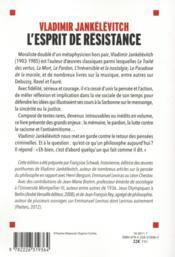 L'esprit de résistance ; textes politiques 1943-1983 - 4ème de couverture - Format classique
