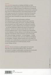 Foucault et le probleme de la vie - 4ème de couverture - Format classique