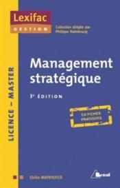 Management stratégique (3e édition) - Couverture - Format classique