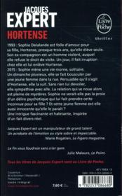 Hortense - 4ème de couverture - Format classique