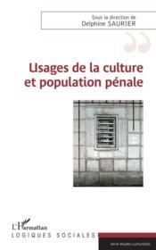 Usages de la culture et population pénale - Couverture - Format classique