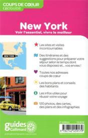 GEOguide coups de coeur ; New York (édition 2019) - 4ème de couverture - Format classique