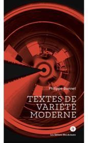 Textes de variété moderne - Couverture - Format classique