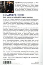 La lumière révélée ; de la lunette de Galilée à l'étrangeté quantique - 4ème de couverture - Format classique