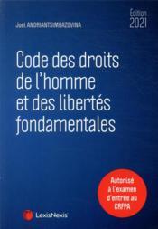 Code des droits de l'homme et des libertés fondamentales (édition 2021) - Couverture - Format classique