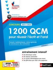 1 200 QCM pour réussir l'écrit et l'oral (édition 2021/2022) - Couverture - Format classique