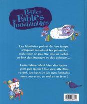 PETITS CONTES POUR... ; petites fables inoubliables - 4ème de couverture - Format classique