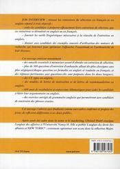 Job interview ; réussir les entretiens de sélection en français et en anglais - 4ème de couverture - Format classique