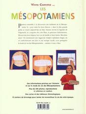 Mesopotamiens (les) - 4ème de couverture - Format classique