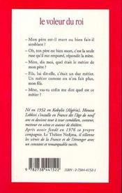 Le Voleur Du Roi : Conte De La Tradition Orale Kabyle - 4ème de couverture - Format classique