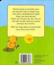 Ou Est Passe Picoti Le Petit Poussin ? - 4ème de couverture - Format classique