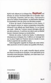Raphaël ; une route dans l'univers - 4ème de couverture - Format classique