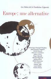 Europe une alternative - Intérieur - Format classique
