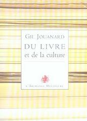 Du livre et de la culture - Intérieur - Format classique