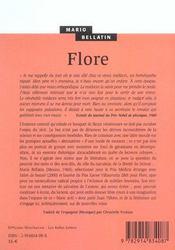 Flore - 4ème de couverture - Format classique