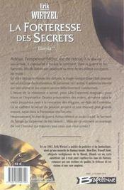 Elamia t.2 ; la forteresse des secrets - 4ème de couverture - Format classique