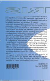 Langue scolaire, diversité linguistique et interculturalité - 4ème de couverture - Format classique