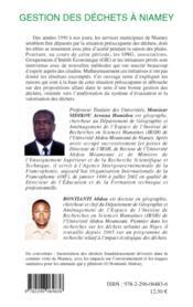 Gestion des déchets à Niamey - 4ème de couverture - Format classique
