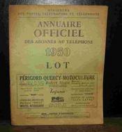 Annuaire Officiel Des Abonnes Au Telephone - Lot - 1950 - Couverture - Format classique