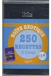 Coffret boîte à riz ; 250 recettes exotiques - Couverture - Format classique