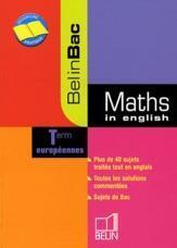 Maths in english ; terminale européennes - Couverture - Format classique