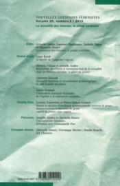 Revue Nouvelles Questions Feministes N.29/3 ; La Sexualité Des Femmes ; Le Plaisir Contraint - 4ème de couverture - Format classique