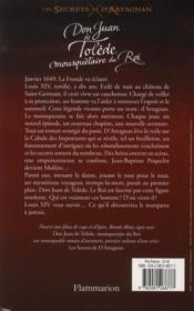 Don Juan de Tolède, mousquetaire du roi - 4ème de couverture - Format classique