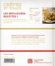 Crêpes et wraps - 4ème de couverture - Format classique