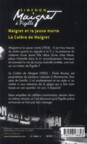 Maigret à pigalle - 4ème de couverture - Format classique