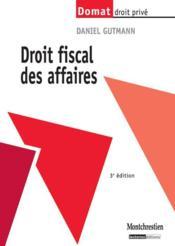 Droit fiscal des affaires (3e édition) - Couverture - Format classique