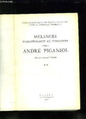 Melanges D Archeologie Et D Histoire Offerts A Andre Piganiol. Tome 2. - Couverture - Format classique