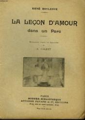 La Lecon D'Amour Dans Un Parc. Collection Modern Bibliotheque. - Couverture - Format classique