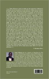 Migrations et mise en valeur de la Basse Côte d'Ivoire (1920-1960) - 4ème de couverture - Format classique