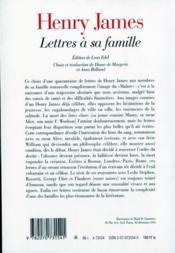 Lettres à sa famille - 4ème de couverture - Format classique
